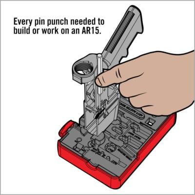 ACCU-PUNCH™ HAMMER & AR15 PIN PUNCH SET