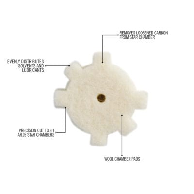 AR15 STAR CHAMBER CLEANING PADS