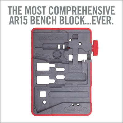 Real Avid AR15 Bench Block included in the Armorers Master Kit