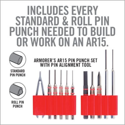 Real Avid Armorer's AR15 Pin Punch Set With Pin Alignment Tool